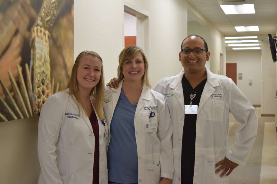 Drs. Kelsey Richardson, Victoria Colmenero and Evan Colmenero are three of the providers who will work at the new Covenant Health Family Medical Clinic. Photo: Ellysa Harris/Plainview Herald