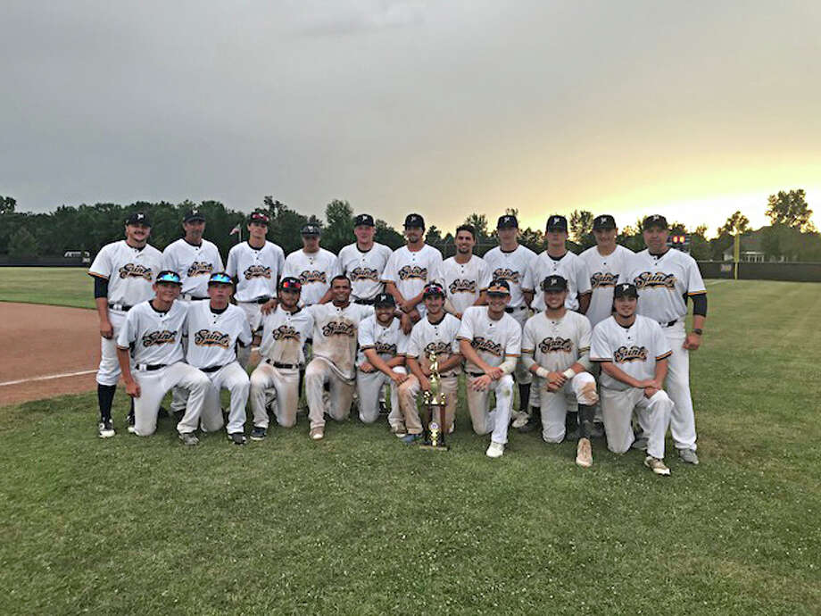 The Manistee Saints topped the Pontiac Parkers 7-5 before falling to the Midland Tribe 6-5 in extra innings to finish second in an NABF regional final. (Courtesy photo)
