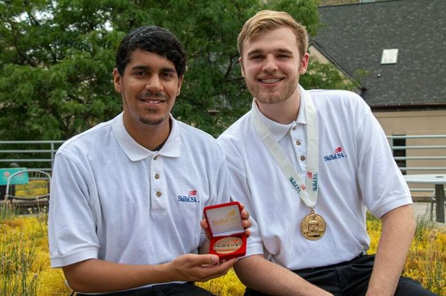 Ben Waters (left) and Keith Takens (right) recently won gold medals at the SkillsUSA National Leadership and Skills Conference. The two FSU juniors are veterans of the competition and have taken home first place for the second year in a row. (Courtesy photo)