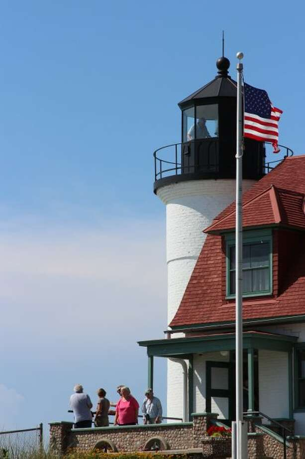 Point Betsie Lighthouse stands 52 feet above Lake Michigan and has long-served as one of the most important landmarks in Benzie County. The Friends of Point Betsie Lighthouse recently launched a $1 million-plus capital campaign to fund two projects. (Pioneer News Network File Photo)