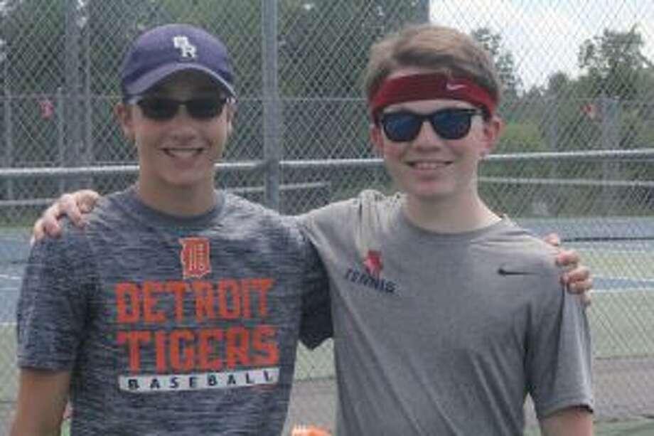 Jonah Weber and Jacob McLeod will be among the key players for Big Rapids tennis. (Pioneer photo/John Raffel)