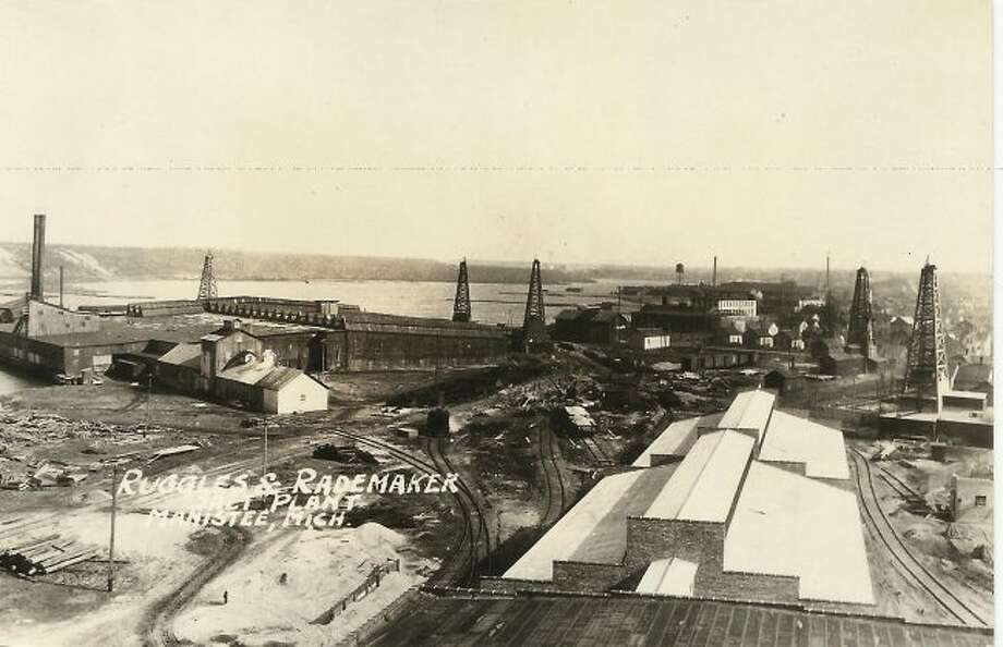 The Ruggles and Rademaker plant is shown in this photograph from the early 1900s.