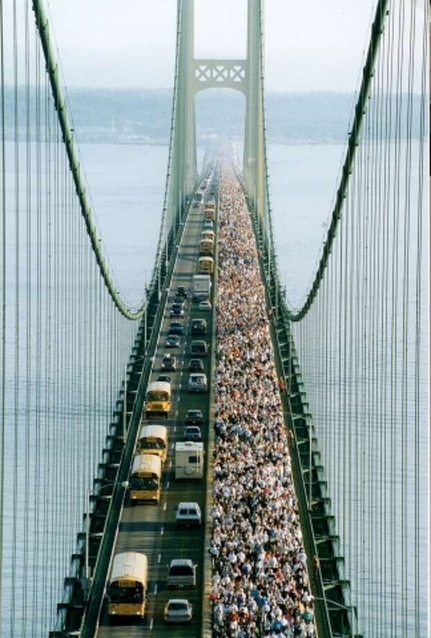 This year people will have the opportunity to be double crossers when it comes to the annual Labor Day Mackinac Bridge Walk. People can walk back and forth if they choose to hike the full 10 miles.