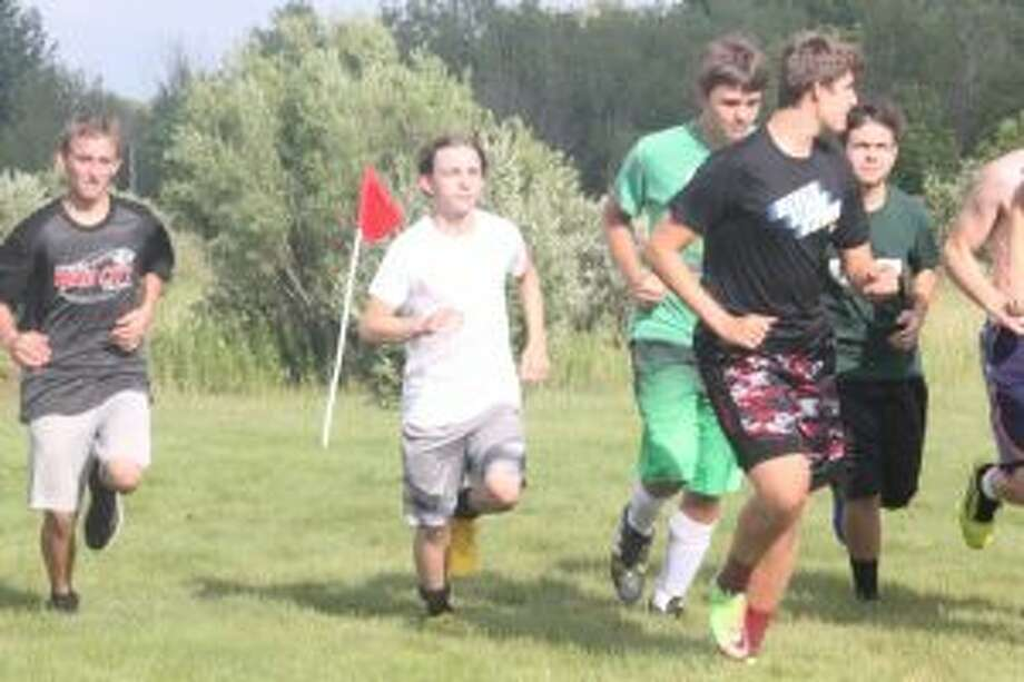 Reed City soccer players get ready for a practice