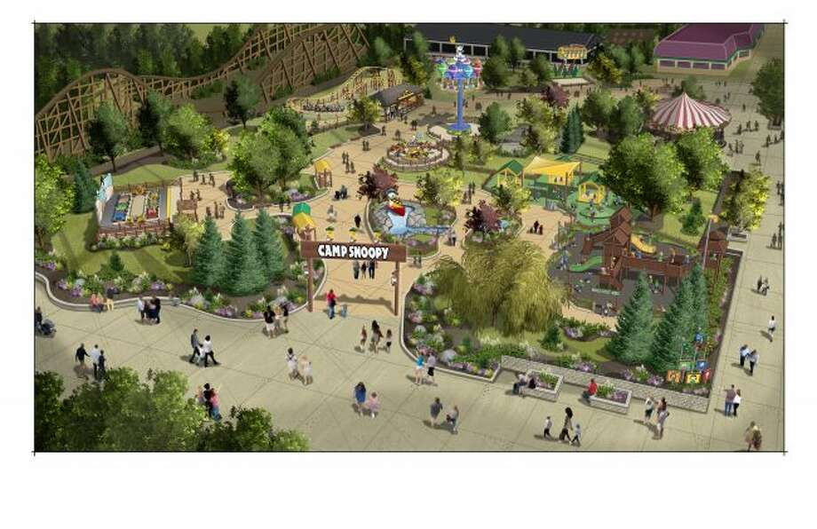 The re-imagined section of Michiganu2019s Adventure dubbed u201cCamp Snoopyu201d will include five new rides with an outdoors theme, including a family-friendly roller coaster and a playground, according to a news release issued by the Muskegon-based theme park.