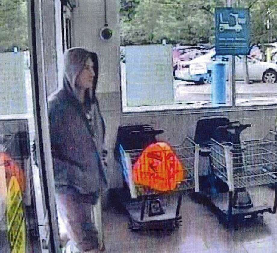 Police are looking for a suspect who stole cash and credit cards from an unlocked vehicle last week. Police said between 8 and 9:30 on Aug. 27, 2019 an unlocked vehicle parked in Commerce Road lot was entered into and cash and a credit card were stolen. The suspect later made a credit card purchase at Walmart in Shelton and unsuccessfully attempted to make a credit card purchase at Best Buy in Trumbull. Photo: Newtown Police Department
