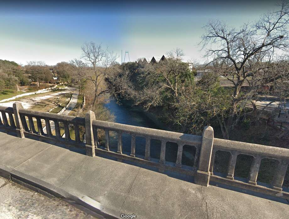 Side walks and traffic lanes will be widened as part of TxDOT's $4.5 million project on the San Antonio Street Bridge that spans the Comal River in New Braunfels. Photo: Google Maps