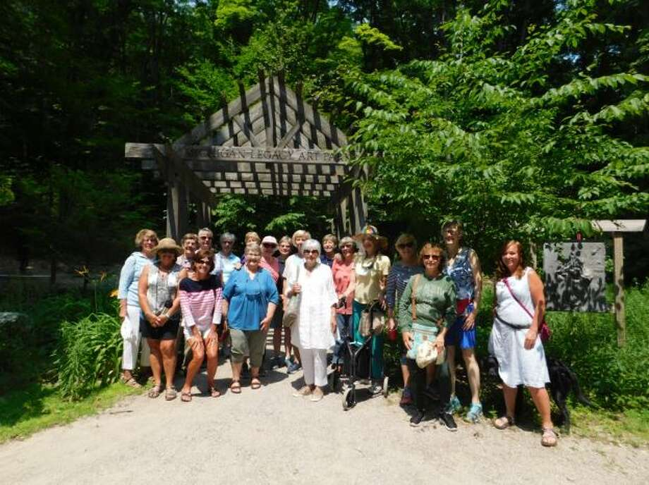 Members of Portage Lake Garden Club recently visited Michigan Legacy Art Park. (Courtesy photo)