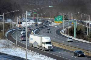 A view of I-84 West near exit 1 in Danbury, Thursday, January 22, 2015.