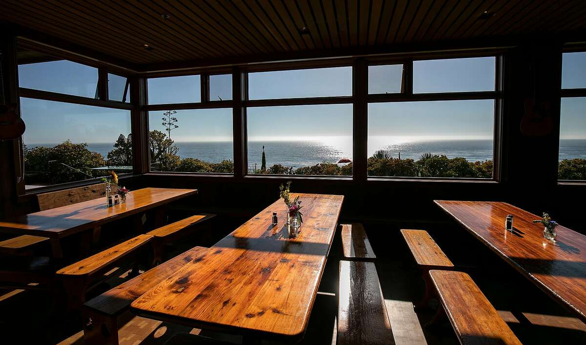 The dining hall at Esalen has a view of the ocean on Friday, August 30, 2019 in Big Sur, Calif.