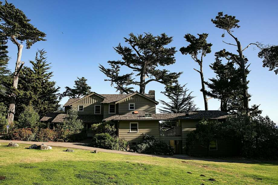 Above: The Murphy House lodges guests at the Esalen Institute, which has operated in Big Sur since 1962. Left: Co-founder Michael Murphy is still involved in the day-to-day operations. Photo: LiPo Ching / Special To The Chronicle