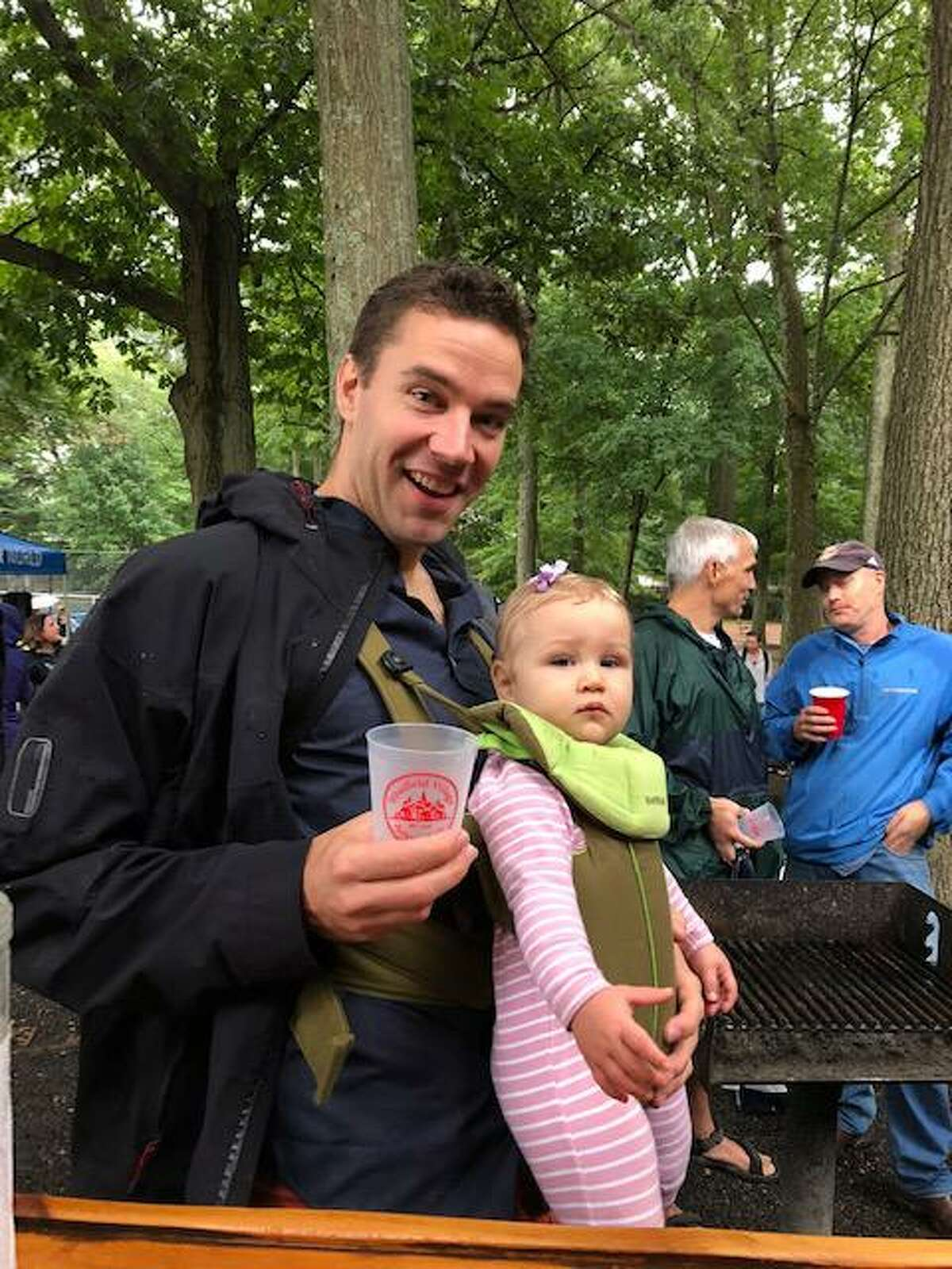 Brian Kinsely and his daughter, Eleanor, enjoying the festivities at the 2018 SVA Party in the Park.