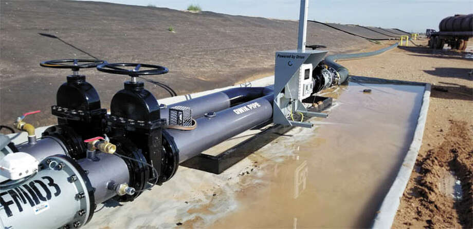 To make sure all produced and fresh water blends are properly blended,  all the time, Orion Water Solutions has teamed with Qwik Pipe. They've  developed a sensor-monitored blend manifold, which they have delivered  to a major producer in the Permian Basin. Call the Permian Basin office  to learn more: 432-219-8100. Photo: Courtesy