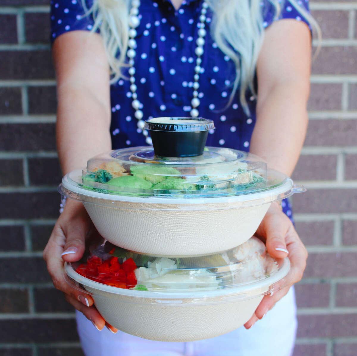 Bowls of Salad Station meals.