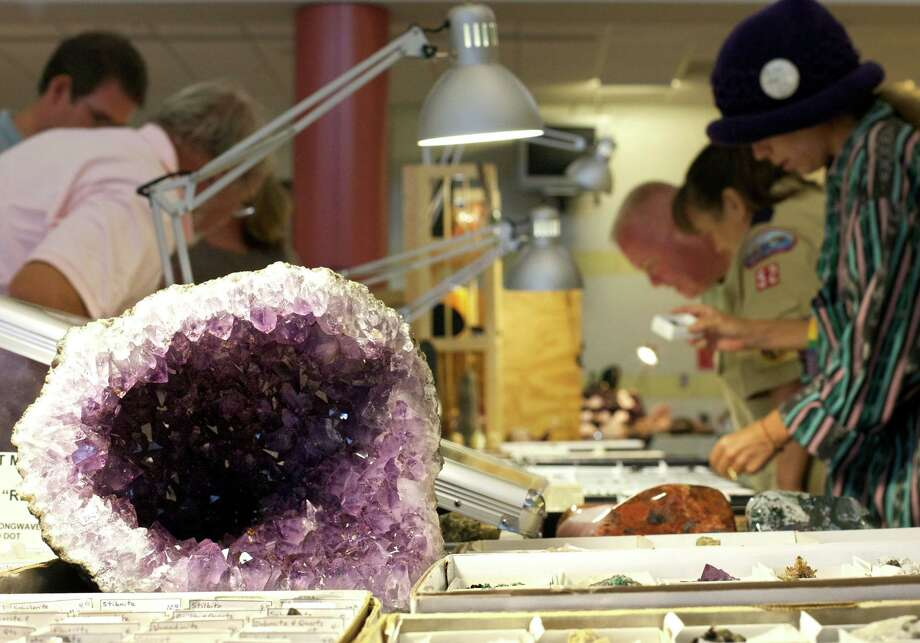 The Danbury Mineralogical Society's annual Gem, Jewelry, Mineral & Fossil Show is at New Milford High School Sept. 7 and 8. Photo: Hearst Connecticut Media File Photo / Trish Haldin