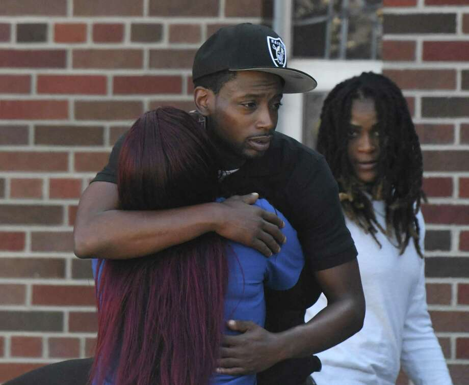 Friends and family of Nishawn Tolliver attend his funeral service at Bethel AME Church in Stamford, Conn. Tuesday, Sept. 3, 2019. Nishawn Tolliver, an 18-year-old Stamford High School student, died in a car accident on Canal Street in the early morning hours of Aug. 26. The car crash also killed 19-year-old Antoine-Pollack and sent four others to the hospital. Photo: Tyler Sizemore / Hearst Connecticut Media / Greenwich Time