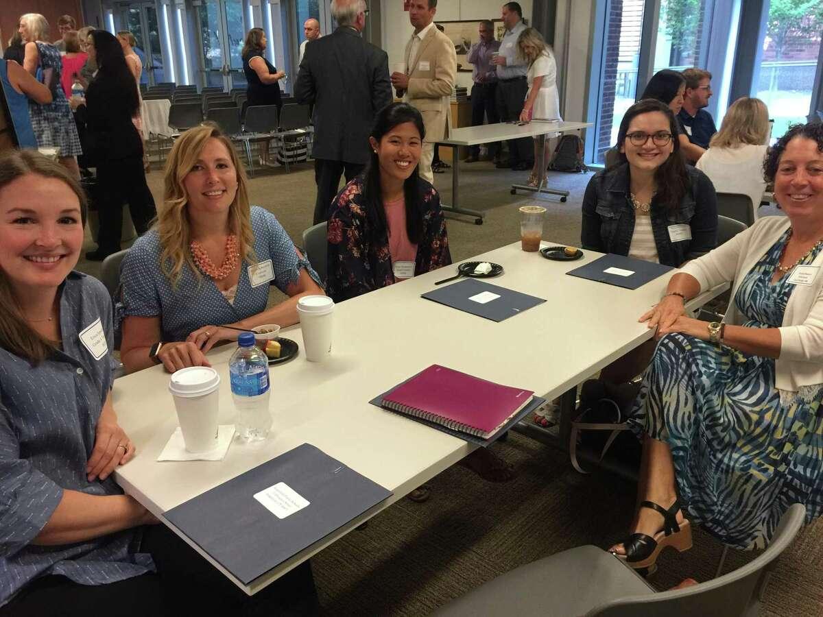 Some of Ridgefield's new hires: Erica Ippoliti, Elizabeth Reynolds, Kristi Montemurro, Alexia Ferreira, and Patricia Raneri (East Ridge, not new to the district).
