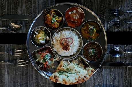 The Shahi Platter served at Spice of America, an Indian-Nepalese restaurant in San Francisco, Calif., on Sunday, September 1, 2019.