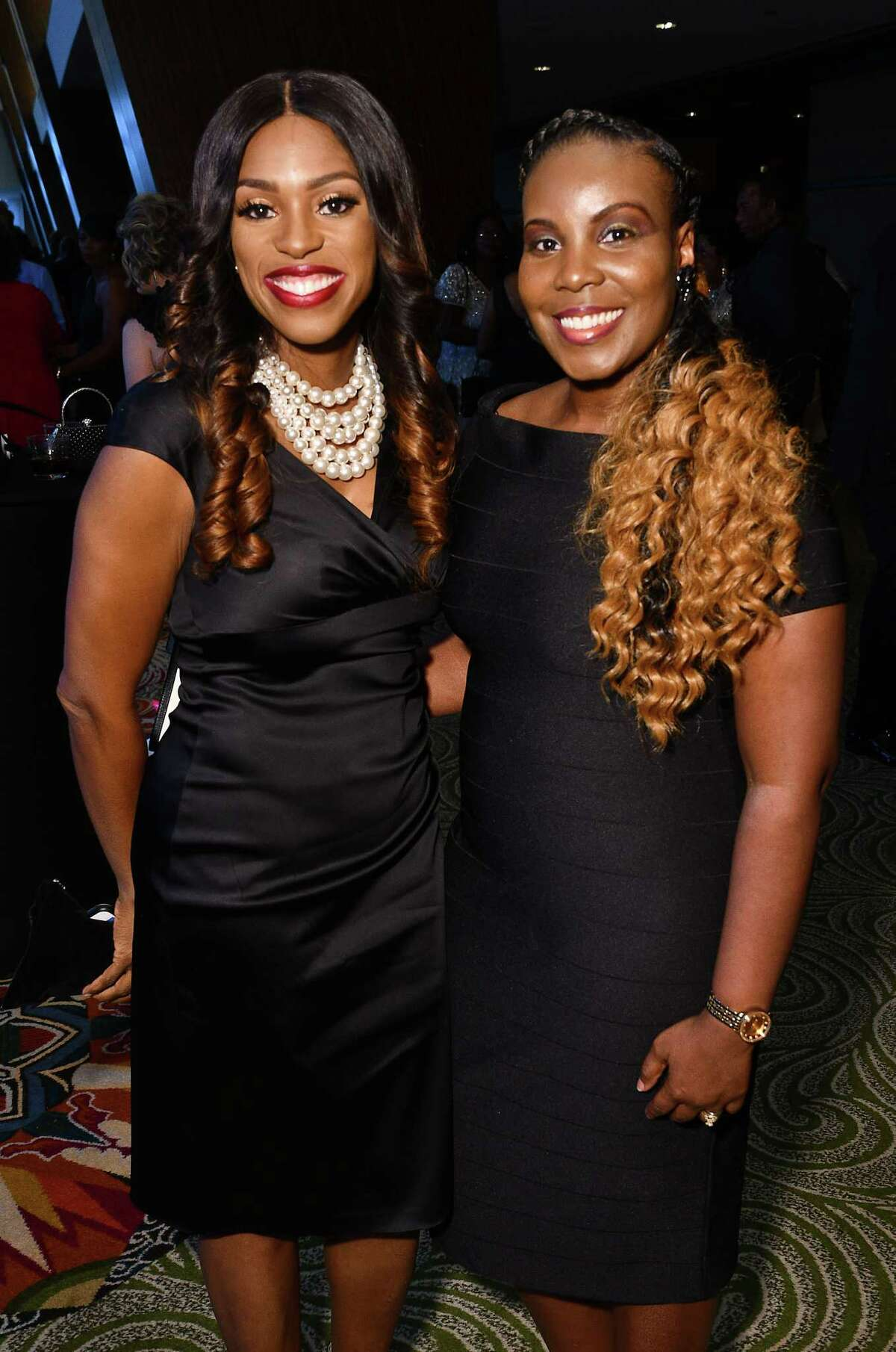 Arnitra Doucet and Antonea Jackson at the Third-Annual Prairie View A&M Fundraising Gala at the Hilton Americas Hotel Friday Aug. 30,2019.(Dave Rossman Photo)