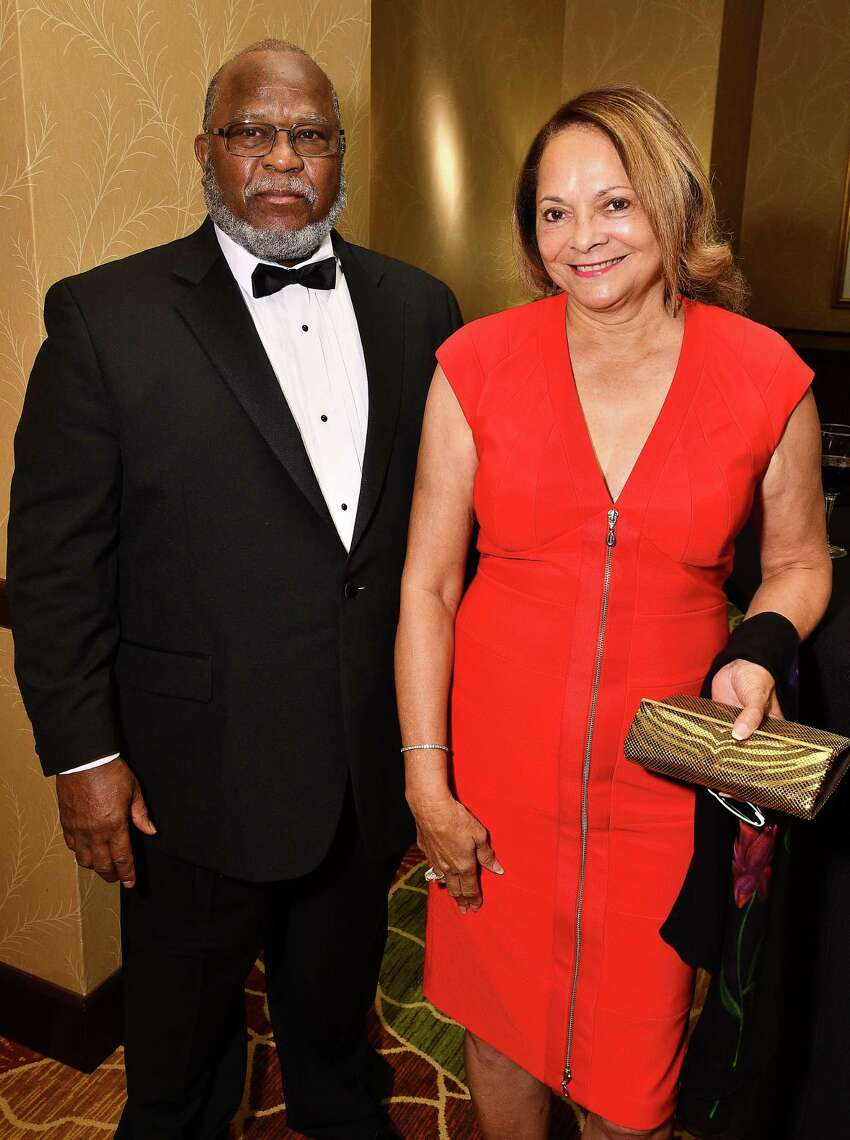 George Hadnot and Elizabeth Collins at the Third-Annual Prairie View A&M Fundraising Gala at the Hilton Americas Hotel Friday Aug. 30,2019.(Dave Rossman Photo)