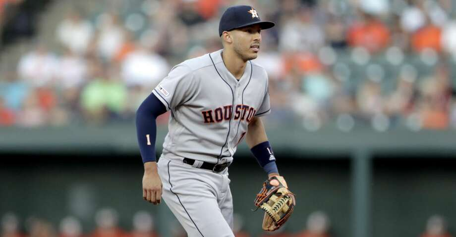 PHOTOS: Astros game-by-game Houston Astros shortstop Carlos Correa waits for a pitch to a Baltimore Orioles batter during the first inning of a baseball game, Saturday, Aug. 10, 2019, in Baltimore. (AP Photo/Julio Cortez) Browse through the photos to see how the Astros have fared in each game this season. Photo: Julio Cortez/Associated Press