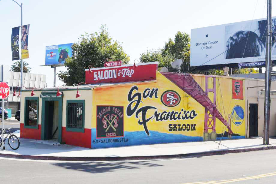 The San Francisco Saloon, a Bay Area sports bar located in Los Angeles. Photo: Sean Cooley/SFGate