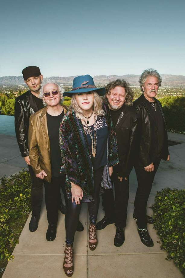 "Jefferson Starship headlines at the ""Rockin' for Adoption"" music festival at Ives Concert Park in Danbury on Sept. 14. From left are Jude Gold (guitar), David Freiberg (guitar,vocals), Cathy Richardson (vocals, guitar), Chris Smith (keyboards) and Donny Baldwin (drums, vocals). Photo: Contributed Photo"
