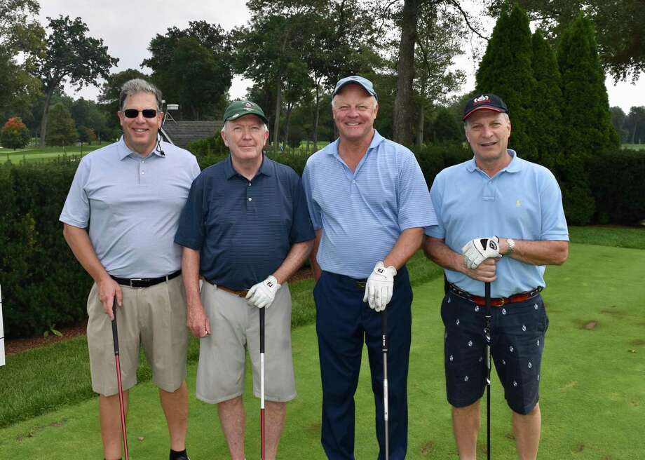 Rich Carratu, Kevin Moynihan, Dan McEvoy, Anthony Ceraso were among those who teed off at the 2018 Exchange Club of New Canaan Golf Tournament. This year's outing is set for Tuesday, Oct. 1, at Woodway Country Club. Photo: Contributed Photo / Exchange Club Of New Canaan / New Canaan Advertiser Contributed