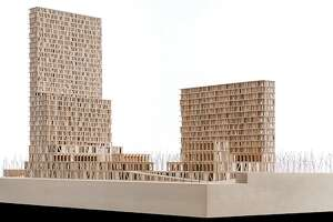 Rice architecture professors and their students built this model of a proposed two-block, mixed-use development for Detroit's Corktown.
