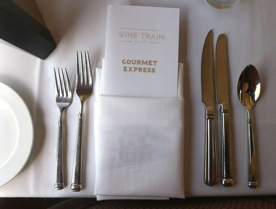 The Gourmet Express lunch, the least expensive offering of the Wine Train on some days, costs $164. Photo: Liz Hafalia / The Chronicle