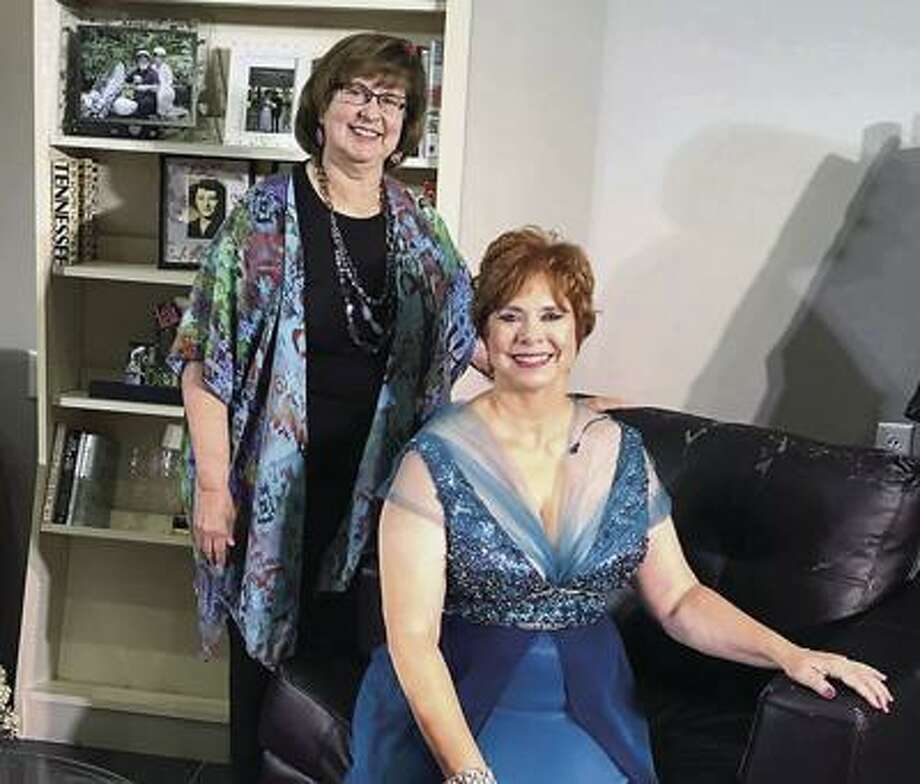 Joan Burr (standing) and Nina Cathey Allbert perform at the Thomaston Opera House Sept .6-7 and Sept. 13-14. Photo: Contributed Photo