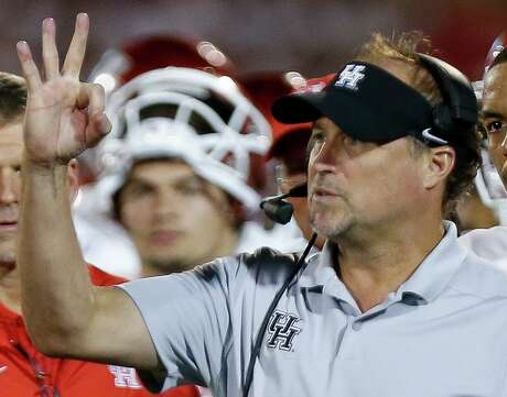 UH coach Dana Holgorsen's exposure to the Air Raid offense was intitated when he was a wide receiver at Iowa Wesleyan.