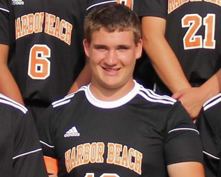 Adam Booms of the Harbor Beach boys soccer team.