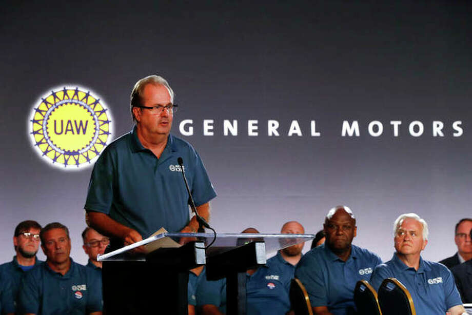 United Auto Workers President Gary Jones speaks during the opening of contract talks with General Motors in Detroit. More than 96% of United Auto Workers union members have voted to authorize strikes against Detroit's three automakers. The union said Tuesday that the vote means leadership is authorized to call strikes against General Motors, Ford and Fiat Chrysler, but it doesn't mean there will be a work stoppage. Photo: Paul Sancya | AP