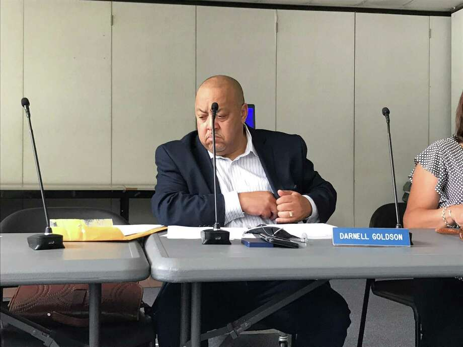 New Haven Board of Education President Darnell Goldson at a Sept. 3, 2019, Finance Committee meeting. Photo: Brian Zahn / Hearst Connecticut Media