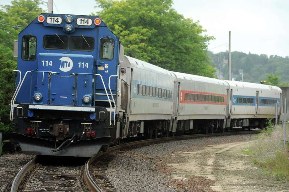 Positive Train Control, a technology designed to reduce the potential for human error that can lead to train-involved accidents, is coming to the Waterbury Branch Line. Because of prep work to install PTC equipment, buses will be substituted for trains starting at 7 p.m. Friday, Sept. 20 and continuing through Sunday, Oct. 6, 2019. Photo: Ned Gerard / Hearst Connecticut Media / Connecticut Post