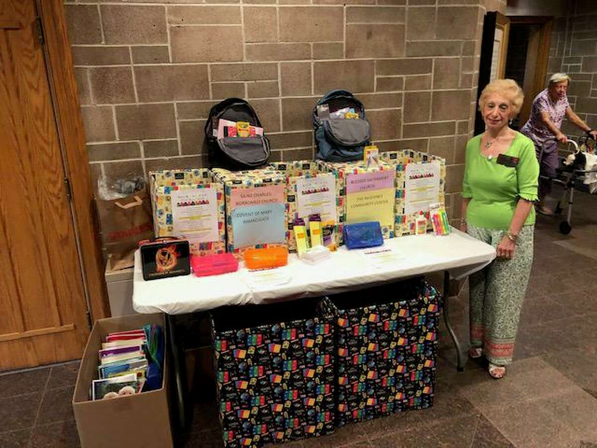 St. Catherine of Siena Parish donated new backpacks and school supplies to inner city Bridgeport students.