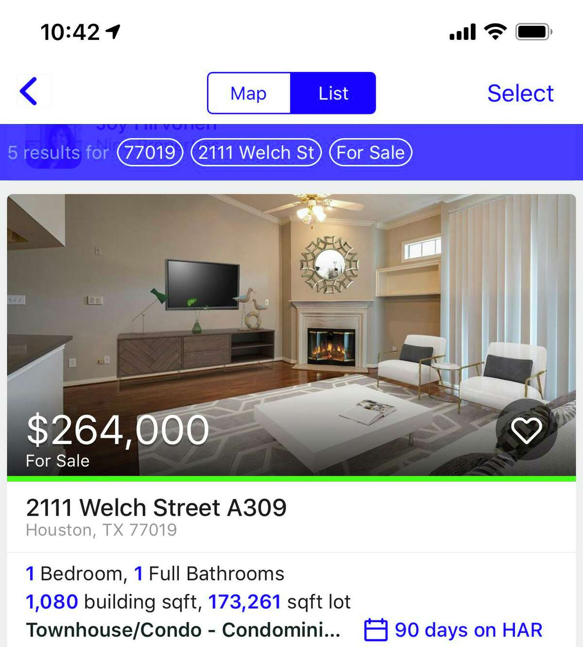 The Houston Area Realtors' app lets you search for rental and purchase properties in the Houston area. CONTINUE to see screenshots from other apps mentioned in the story.