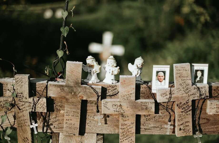 Katie Ventura Photography took images of the temporary memorial that had sat at the site of the Schoharie limo crash before the wood memorial was removed and donated to the New York state Museum Sept. 3, 2019. A permanent memorial will be built and unveiled around the one-year anniversary of the crash in October 2019. The limo crash resulted in the deaths of 20 people, and was America's most deadly transportation crash in nearly a decade. Photo: Provided By Reflections Memorial Foundation