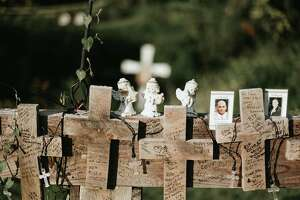 Katie Ventura Photography took images of the temporary memorial that had sat at the site of the Schoharie limo crash before the wood memorial was removed and donated to the New York state Museum Sept. 3, 2019. A permanent memorial will be built and unveiled around the one-year anniversary of the crash in October 2019. The limo crash resulted in the deaths of 20 people, and was America's most deadly transportation crash in nearly a decade.