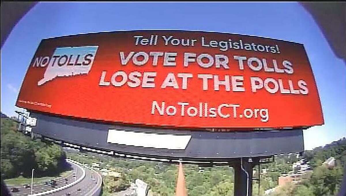 No Tolls CT, a grassroots opposition group to Connecticut highway tolls, has paid for billboards on interstates 91, 84 and 95.