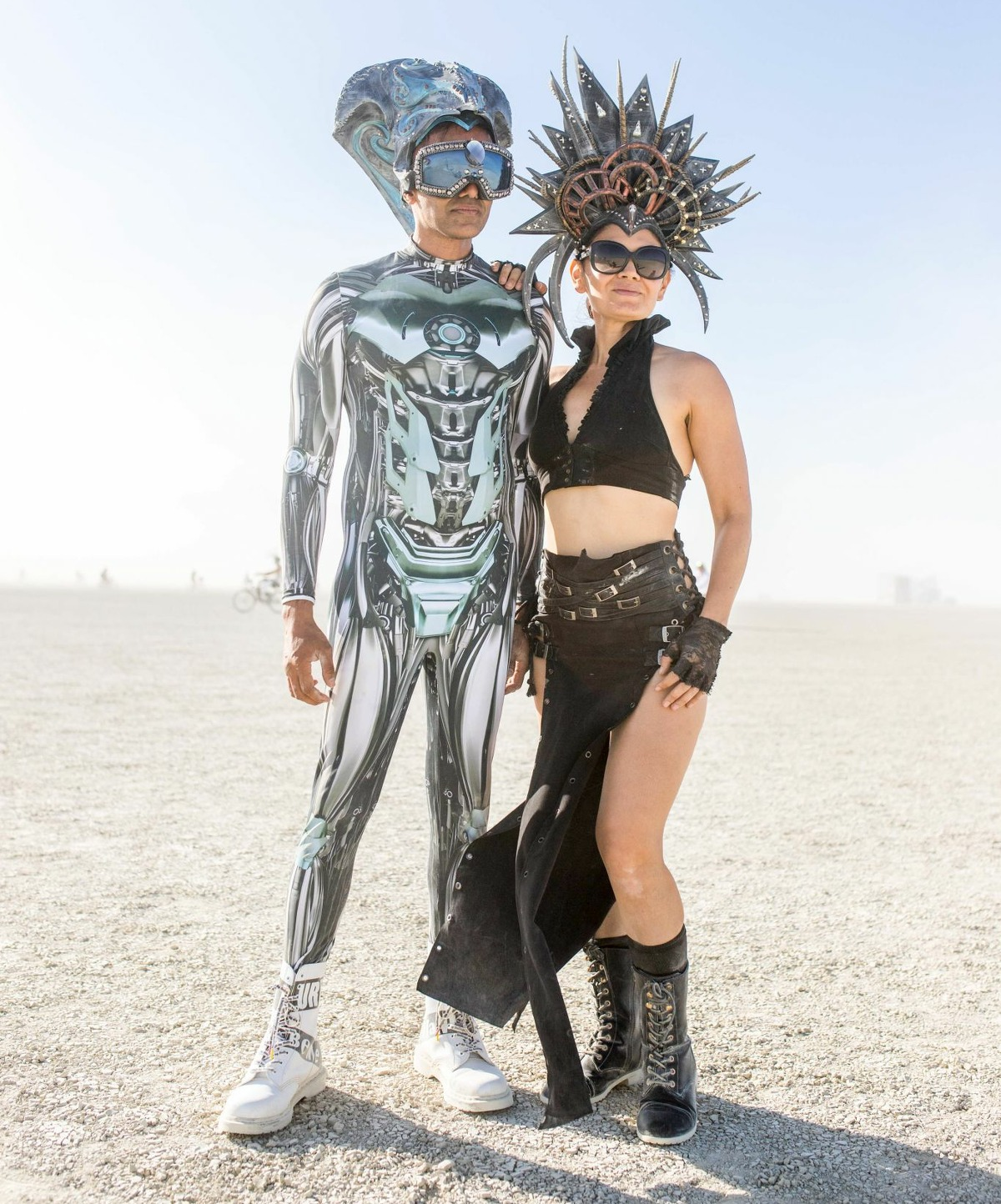 Sami Muneer and friend at Burning Man 2019.