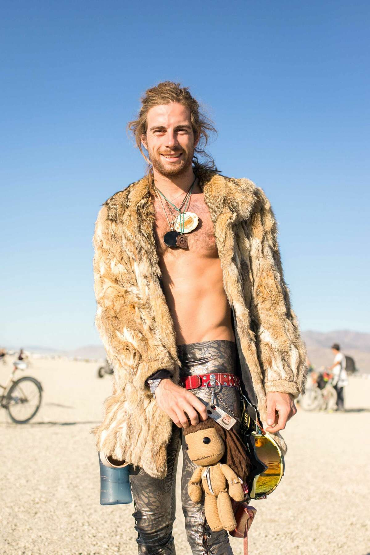 Stefan Flus from Germany at Burning Man 2019.