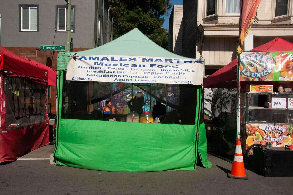 Martha Casiano's tamales business is pictured at Oakland First Fridays.