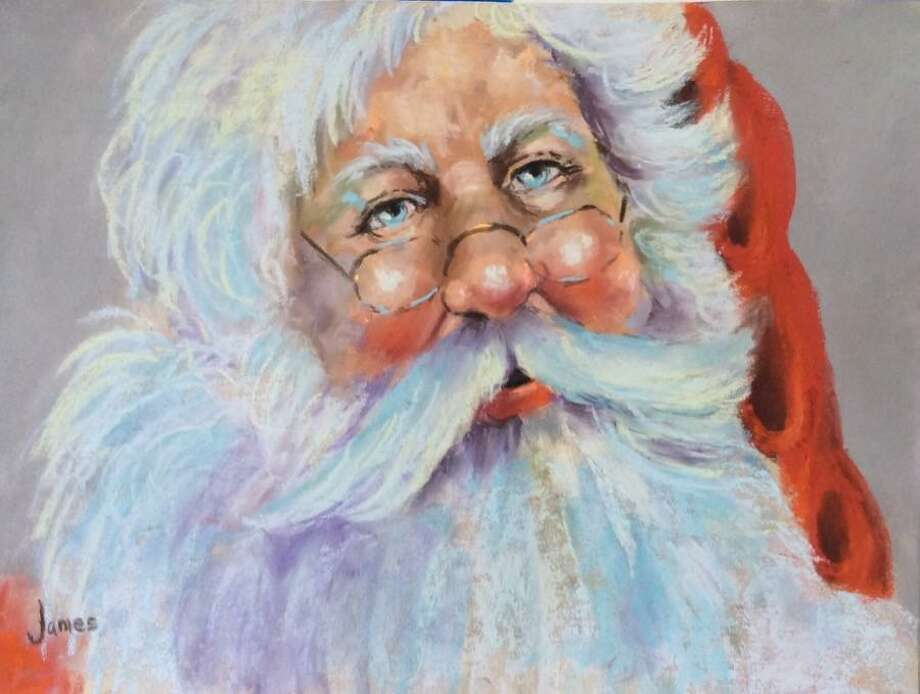 A pastel by Betty James from the Santa Smiles Workshop presented by the Conroe Art League. Betty James, a native Texas artist, will be instructing the Santa workshop using the medium of soft pastel on Saturday, Nov. 9. Her love of Christmas and the holidays lead to her passion for the painting Santa. The Santa Smiles workshop comes just in time for the holidays as the class will explore Santa faces through pastels. Photo: Photo Courtesy The Conroe Art League