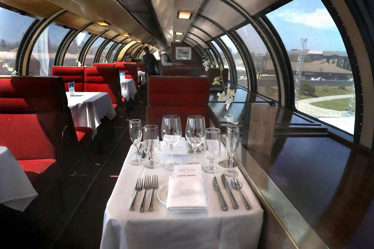 View of the Vista Dome car on the Napa Valley Wine Train, which is celebrating its 30th anniversary on Sept. 16 seen on Friday, Aug. 30, 2019 in Napa, Calif.