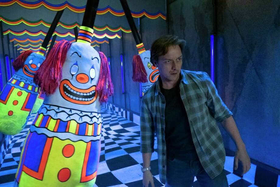 "This image released by Warner Bros. Pictures shows James McAvoy in New Line Cinema's horror thriller ""It: Chapter 2."" (Brooke Palmer/Warner Bros. Pictures via AP) Photo: Brooke Palmer, HONS / Associated Press / © 2019 Warner Bros. Entertainment Inc. All Rights Reserved."
