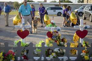 Comfort dogs were available to the public Tuesday, Sept. 3, 2019, at 2nd St. and Sam Houston in Odessa, Texas.  Jacy Lewis/Reporter-Telegram