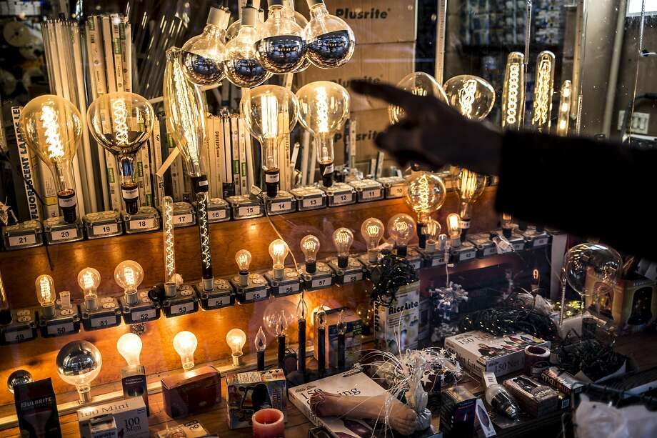 Just Bulbs in New York offers bulbs and light fixtures. The Trump administration wants to roll back efficiency rules on bulbs. Photo: Alex Wroblewski / New York Times 2017