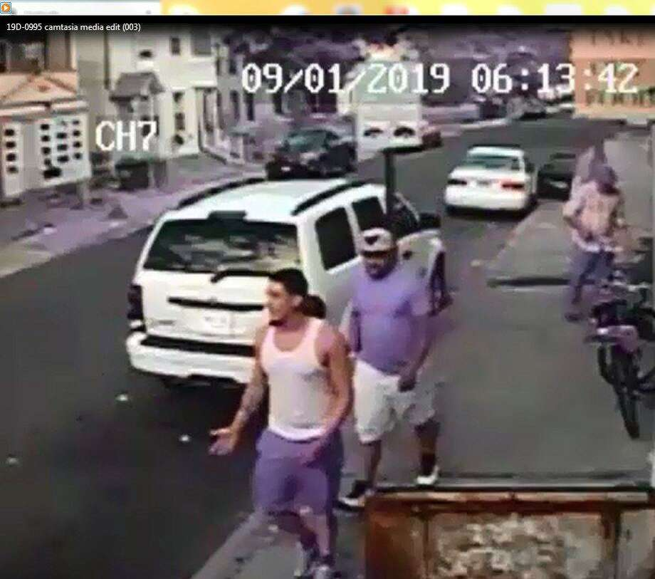 A screenshot from surveillance video released by Bridgeport police Sept. 4, 2019. Photo: /